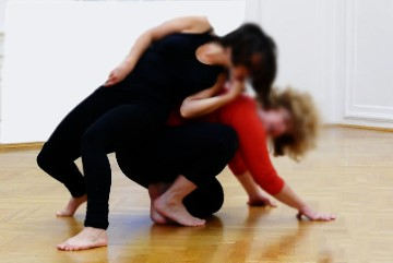 Image of two girls dancing
